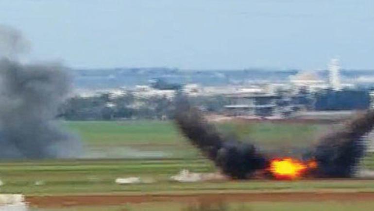 İlk konvoya topçu ateşi