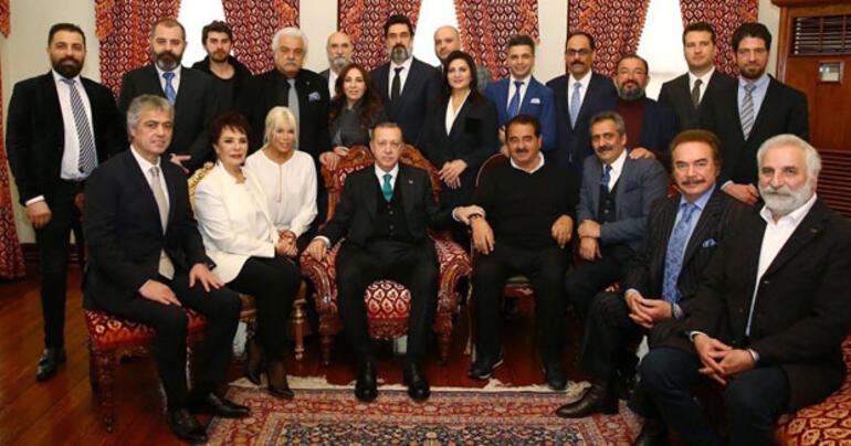 Sanatçılar Cumhurbaşkanı Erdoğanın doğum gününü kutladı
