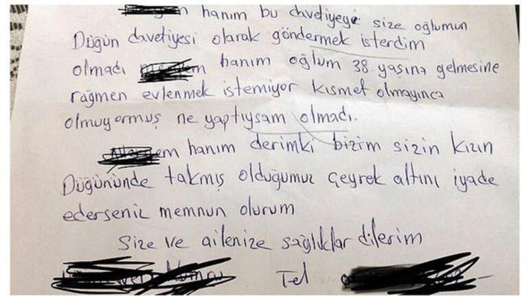 Şaşkına çeviren mektup... Komşu kızına taktığı altını 7 yıl sonra geri istedi
