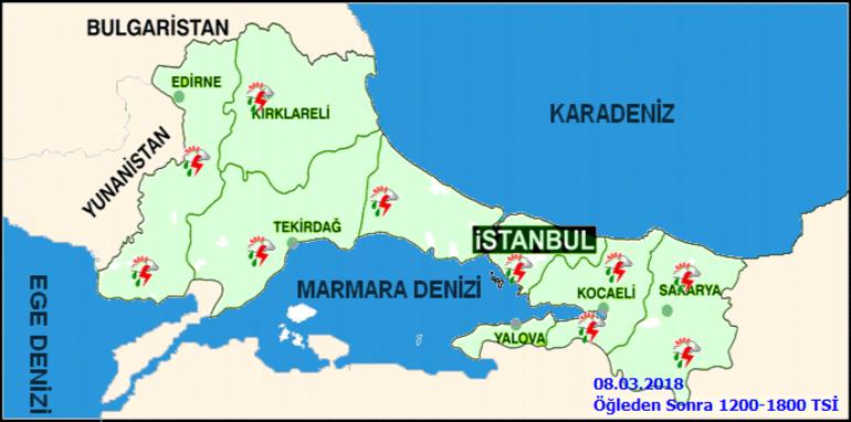Meteoroloji İstanbulluları günlerdir uyarıyordu... Başladı O saatlere dikkat