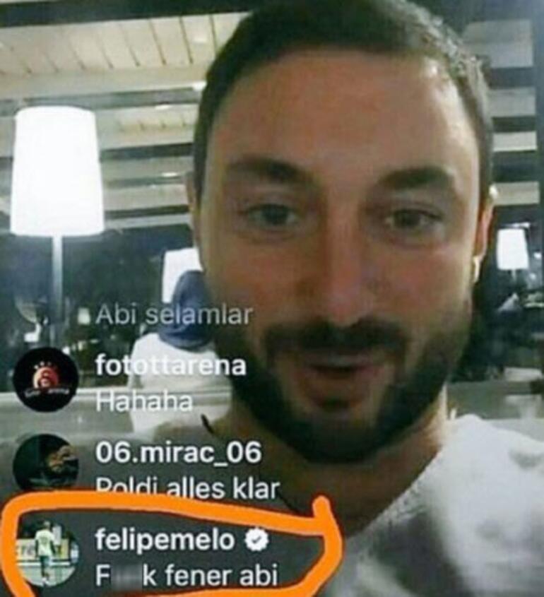 Fenerbahçeye küfür etti Melo yine rahat durmadı...