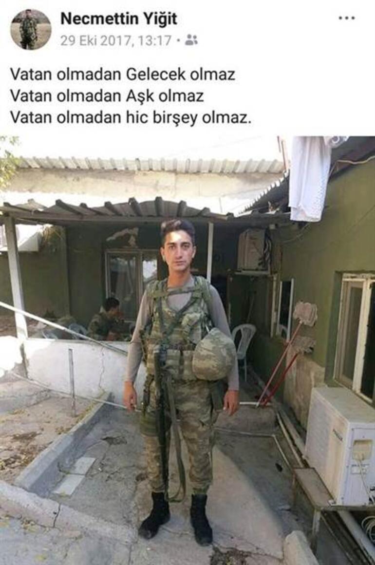TSK: 22 Martta Afrinde yaralanan bir asker şehit oldu