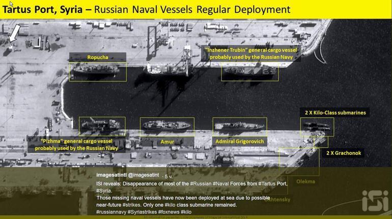 Rus savaş gemileri üsleri terk etti Açık denizde savaş konumu aldı...