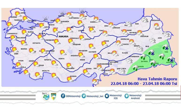 Meteoroloji açıkladı: Yarın başlıyor 2-8 derece...