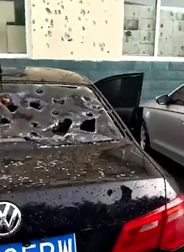 Çindeki fırtınada şoke eden görüntü... Gökten ahtapot yağdı
