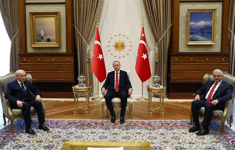 Son dakika: Erdoğan-Bahçeli görüşmesi sona erdi