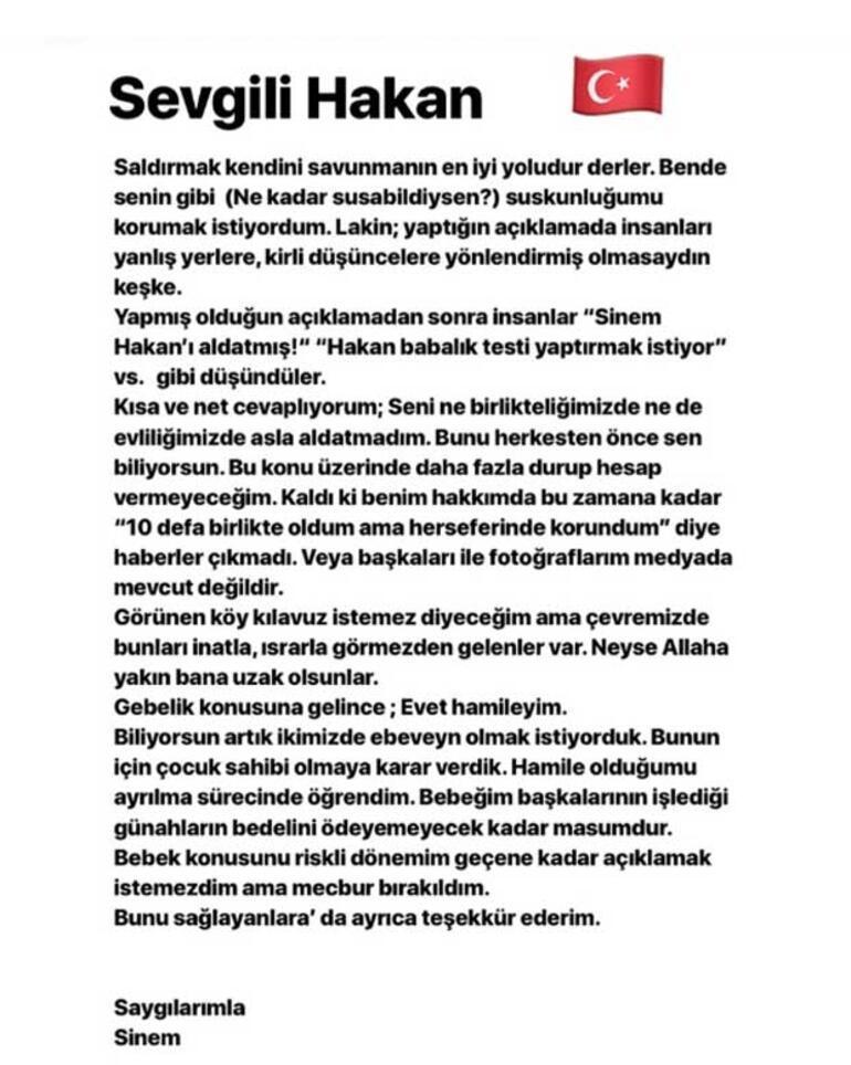 Eşinden Hakan Çalhanoğluna cevap