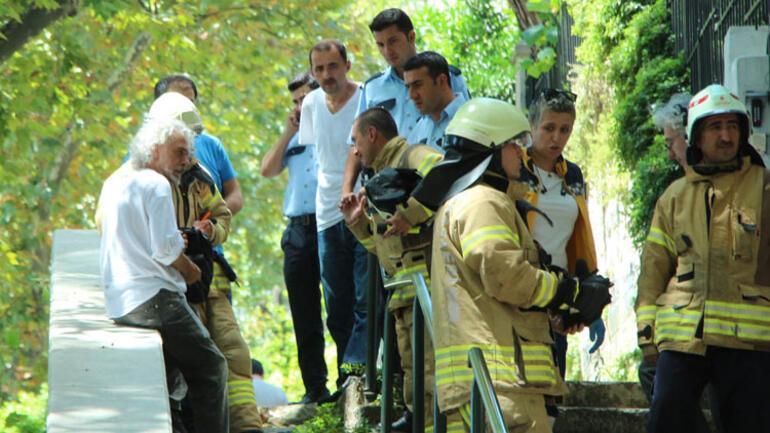 Beşiktaşta yangın paniği