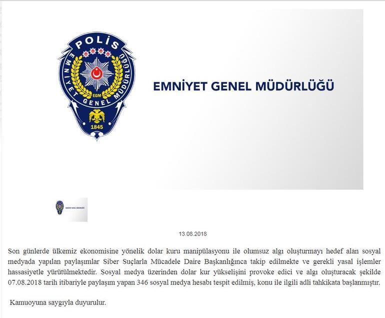 Emniyetten son dakika açıklaması: 346 sosyal medya hesabı tespit edildi