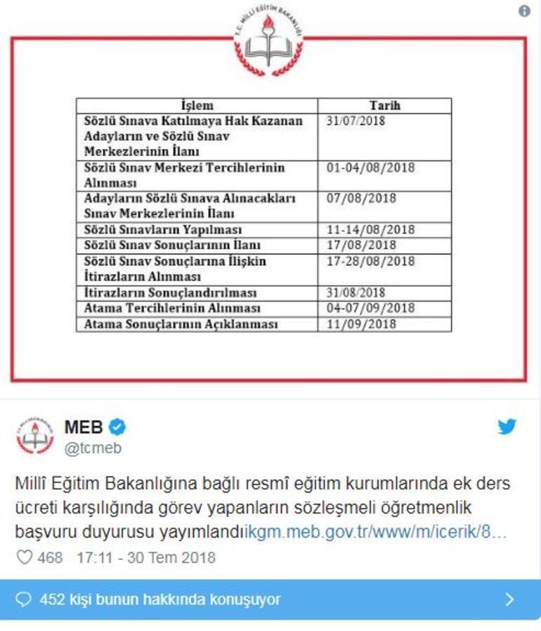 Ücretli öğretmenlik atama sonuçları MEB tarafından açıklandı... İşte sonuç sorgulama sayfası