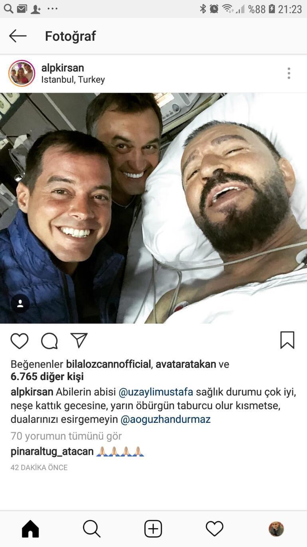 Kalp krizi geçiren Mustafa Topaloğlundan ilk fotoğraf