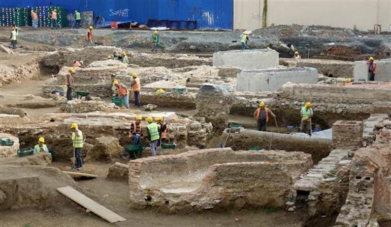 Beşiktaştaki üniversitenin inşaat alanında tarihi kalıntı bulundu