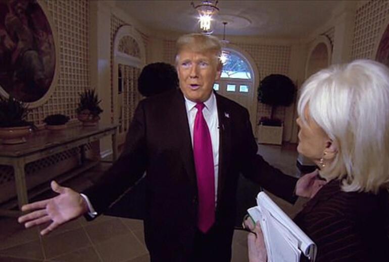 Trump gazeteciyi böyle azarladı
