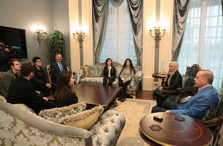 Cumhurbaşkanı Erdoğan ile görüşen öğrenciler o anları anlattı