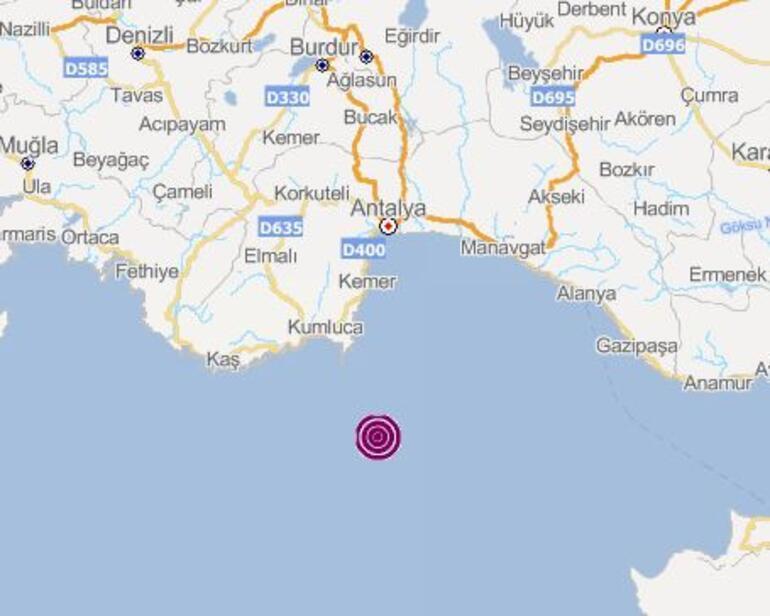 Son dakika... Antalyada 4.1 büyüklüğünde deprem