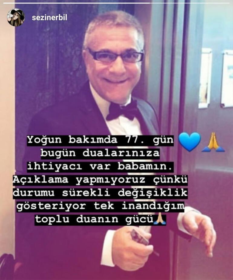 Sezin Erbil: Bugün babamın dualarınıza ihtiyacı var