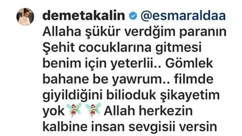 Muhterem Nur  Müslümün sahte eşyalarını sattılar demişti...Demet Akalından açıklama geldi