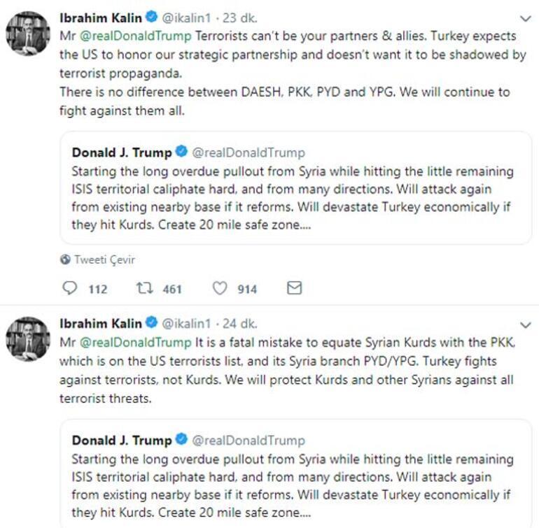 Son dakika... Trumpın skandal tweetine Türkiyeden çok sert cevap