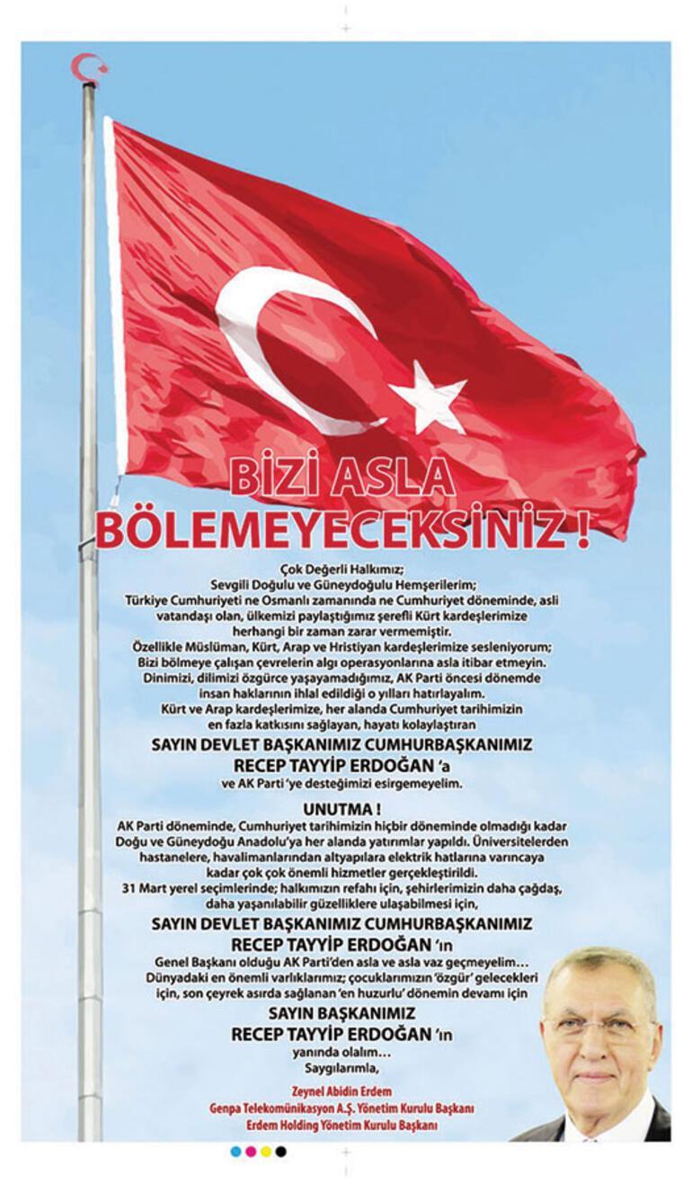 Erdoğan'ı öven ilandaki muazzam çelişki