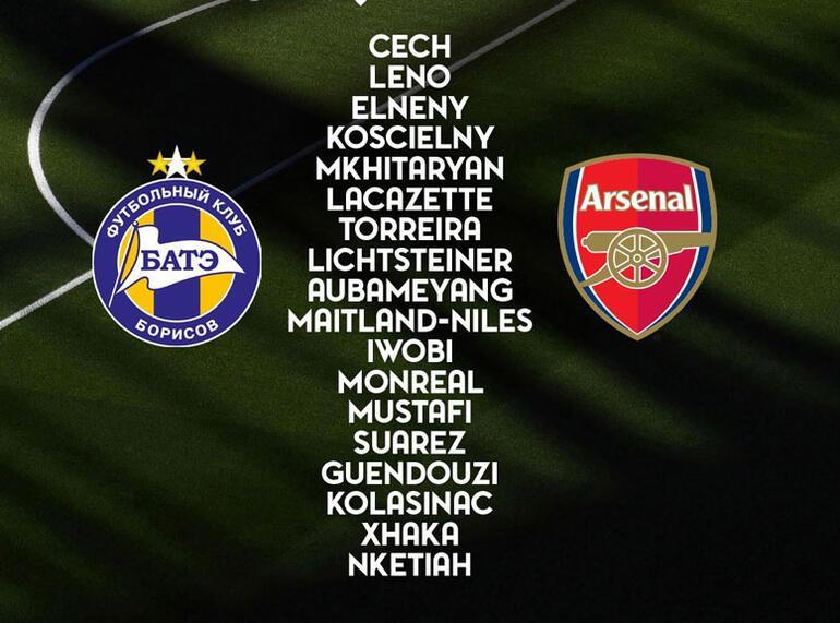 Arsenal açıkladı Mesut Özil yok...