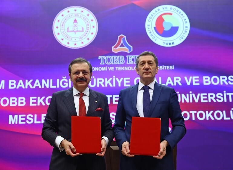 MEB ve TOBB ETÜ arasında Mesleki İş Birliği Protokolü imzalandı