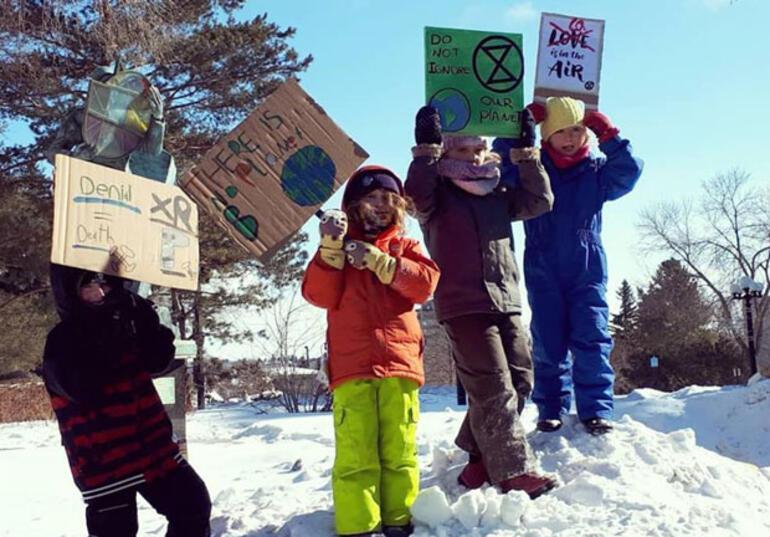 92 ülkede öğrenciler iklim için okulu asacak