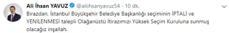Son dakika... AK Partiden YSKya İstanbul için olağanüstü itiraz başvurusu
