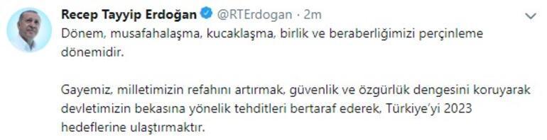 Cumhurbaşkanı Erdoğandan önemli mesaj: Asıl gündemimize odaklanmamız şarttır