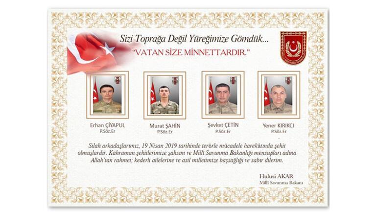 Acı haber Irak sınırında çatışma 4 asker şehit