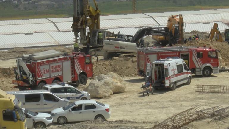 Son dakika: Başakşehirde inşaatta göçük