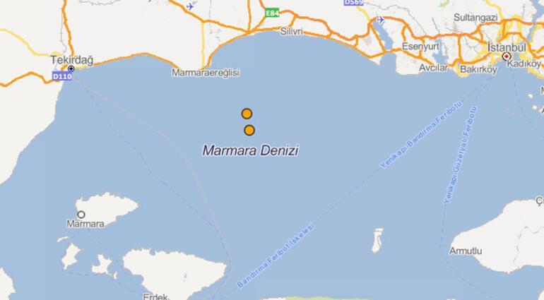 Marmara Denizinde korkutan depremler