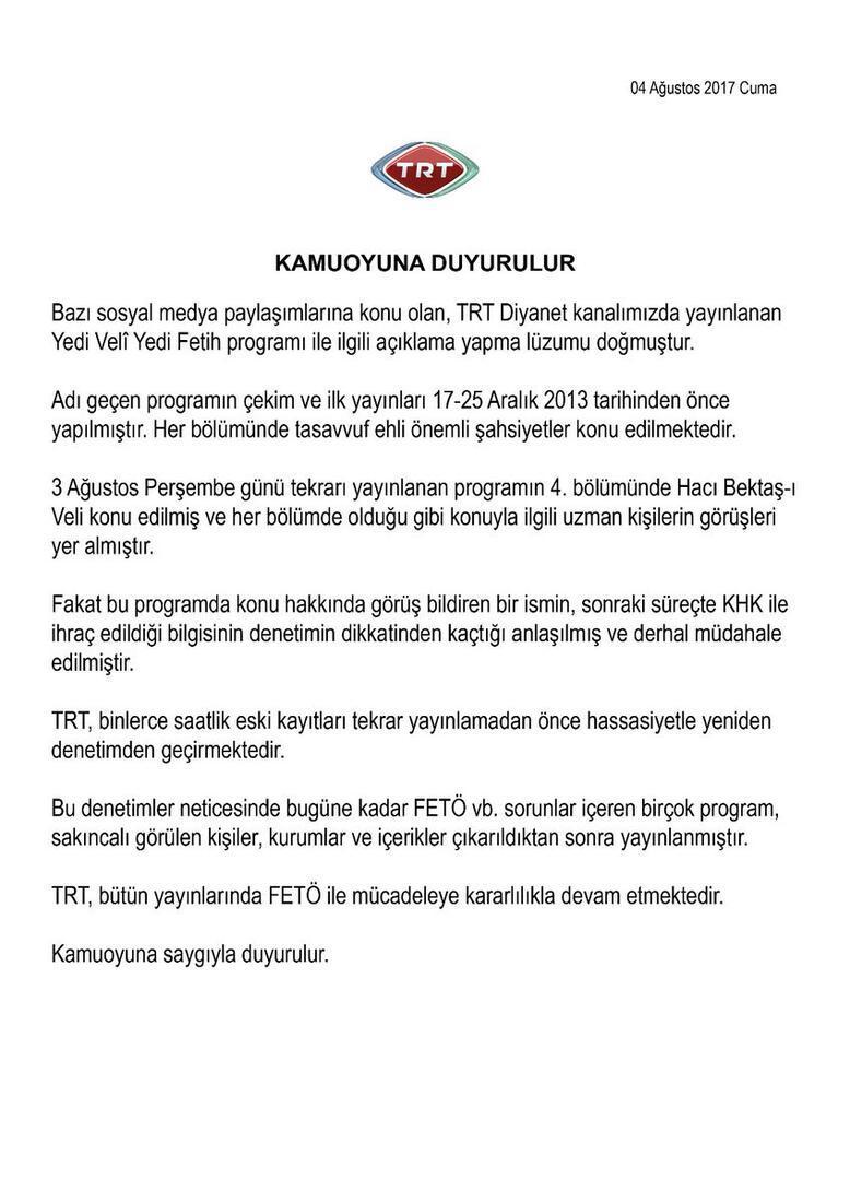 TRTden FETÖcü akademisyen açıklaması