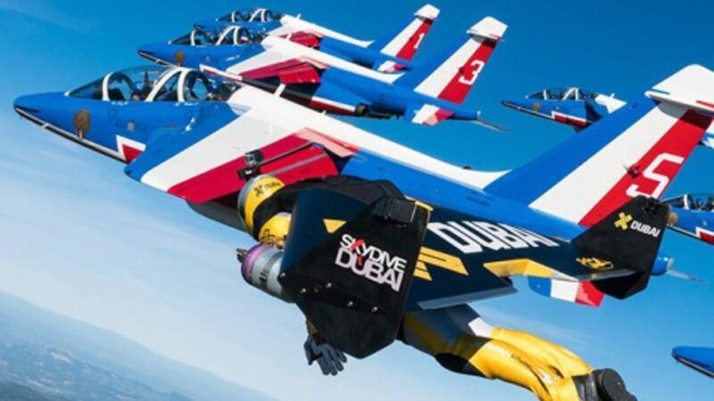 Jet adamın müthiş uçuşu