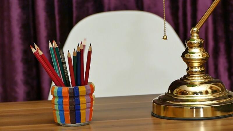 Dekoratif Kalemlik | Yaparım Bilirsin