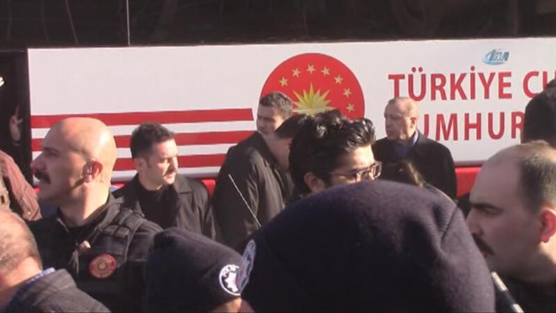 Erdoğan'ın konvoyunda üzücü kaza