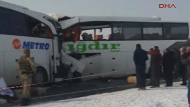 Iğdır'da yolcu otobüsleri kaza yaptı! Ölü ve yaralılar var