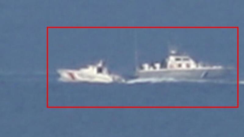 Kardak'ta Yunan Sahil Güvenlik botu bozulunca...