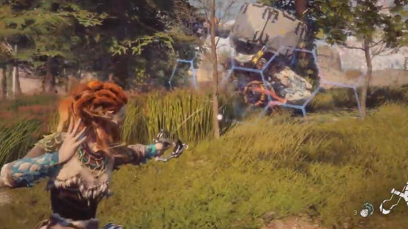 Horizon Zero Dawn oynanış videosu