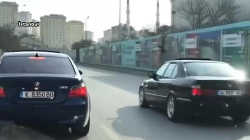 Bu da yabancı plakalı trafik magandası