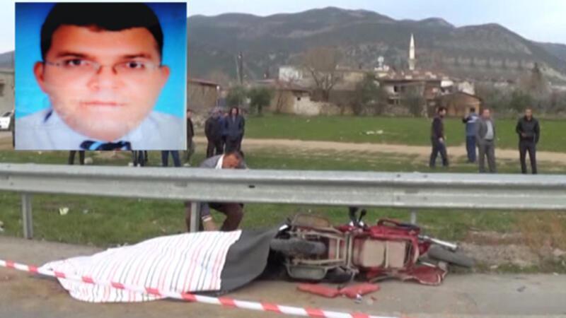 TIR'ın çarptığı motosikletli hayatını kaybetti