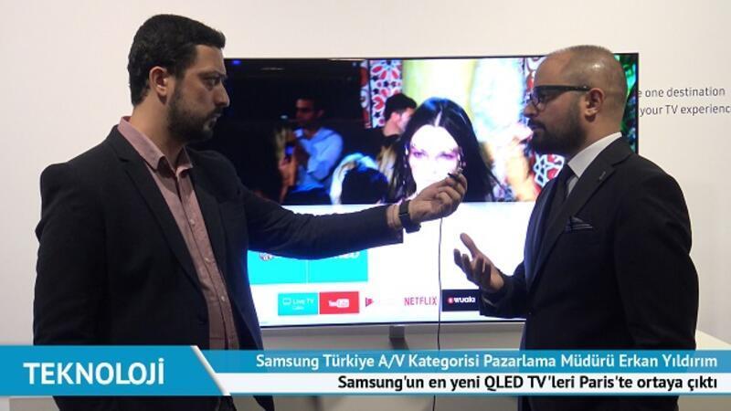 Samsung'un en yeni QLED TV'leri Paris'te ortaya çıktı