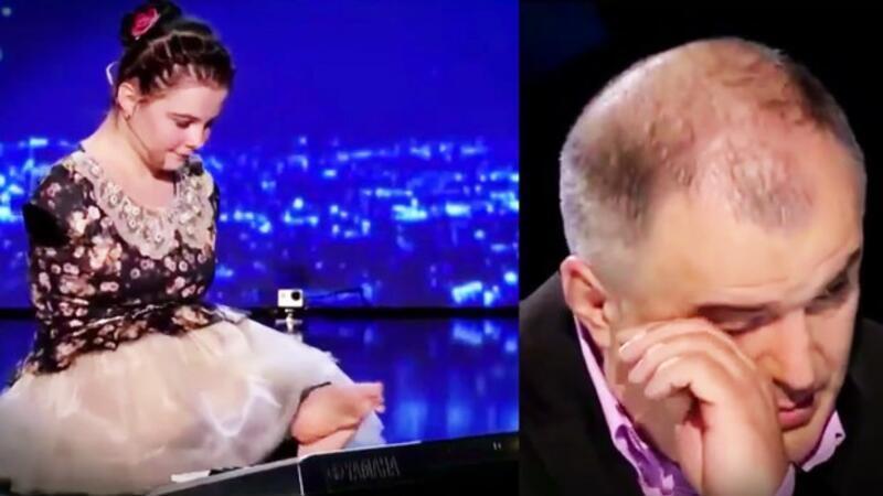 Engelli kızın sergilediği performans gözyaşlarına boğdu!