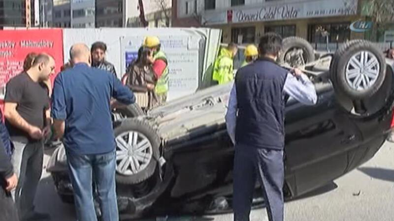 İstanbul Şişli'de akılalmaz kaza