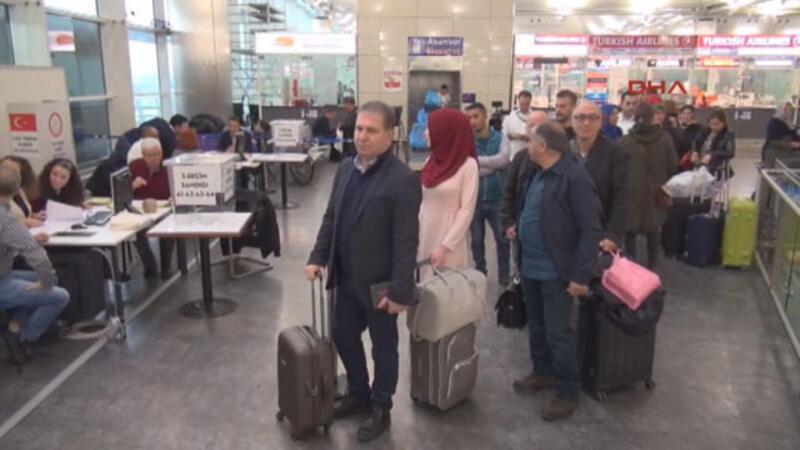 Atatürk Havalimanı'nda oy kullanma işlemi başladı