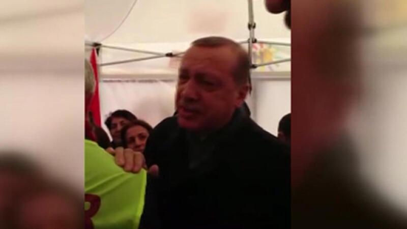 Erdoğan'ın ziyaret ettiği 'Hayır' çadırının içinden görüntüler