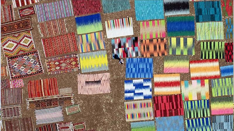 Turkish carpets color up landscape in southern town