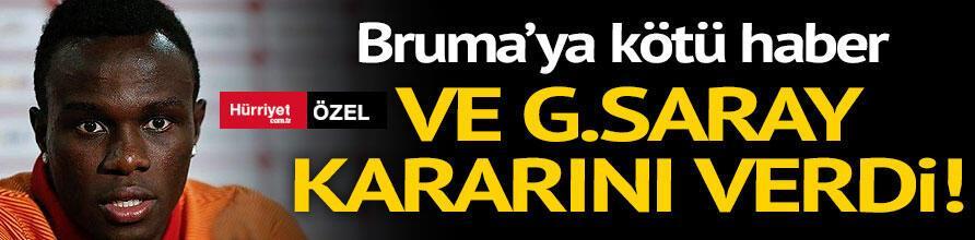 Ve G.Saray kararını verdi Brumaya kötü haber...