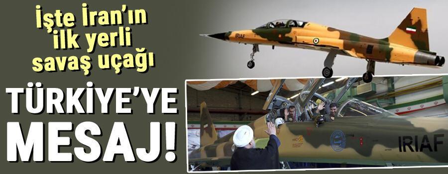 İran yüzde 100 yerli savaş uçağı Kovsarı tanıttı Türkiyeye mesaj yolladı...
