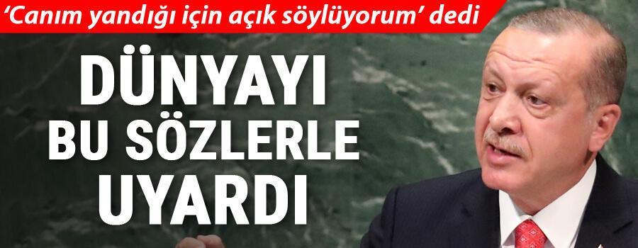 Son dakika... Cumhurbaşkanı Erdoğandan Birleşmiş Milletlerde kritik mesajlar