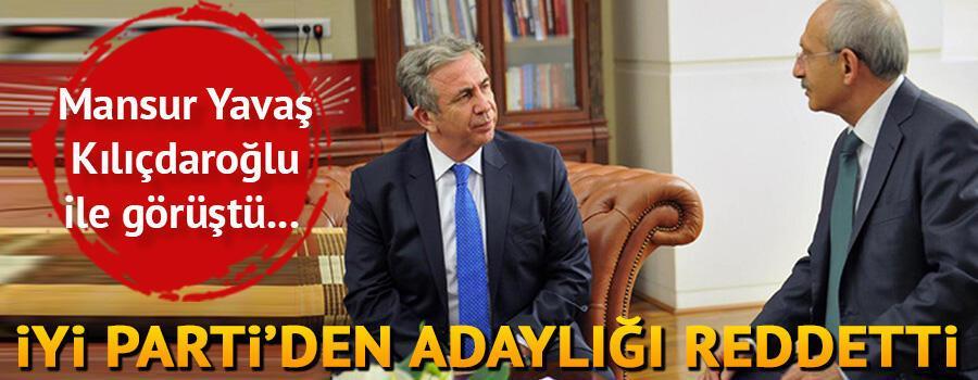 Mansur Yavaş Kılıçdaroğlu ile görüştü... İYİ Parti'den adaylığı reddetti